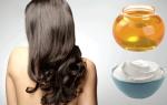 Маска с медом и кефиром для волос
