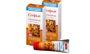 Крем с пчелиным ядом Софья для лечения суставов и связок