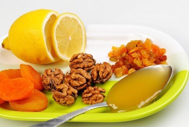 Смесь курага чернослив грецкий орех мед лимон